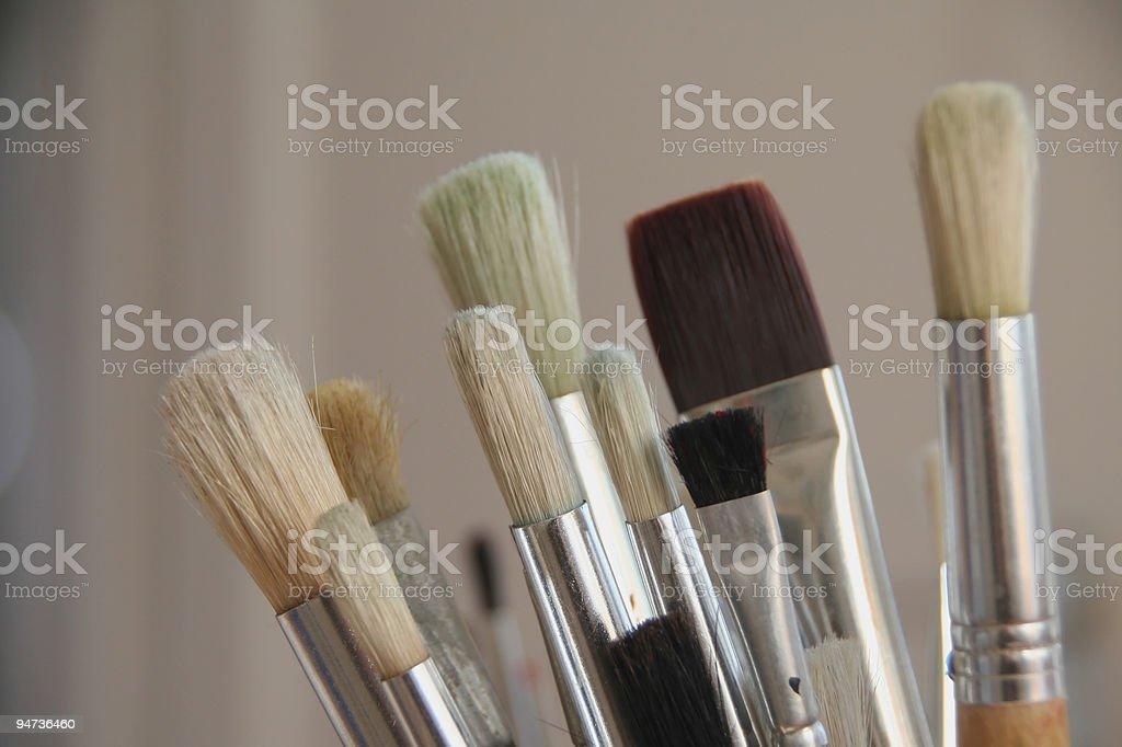 Brushes Close-Up royalty-free stock photo