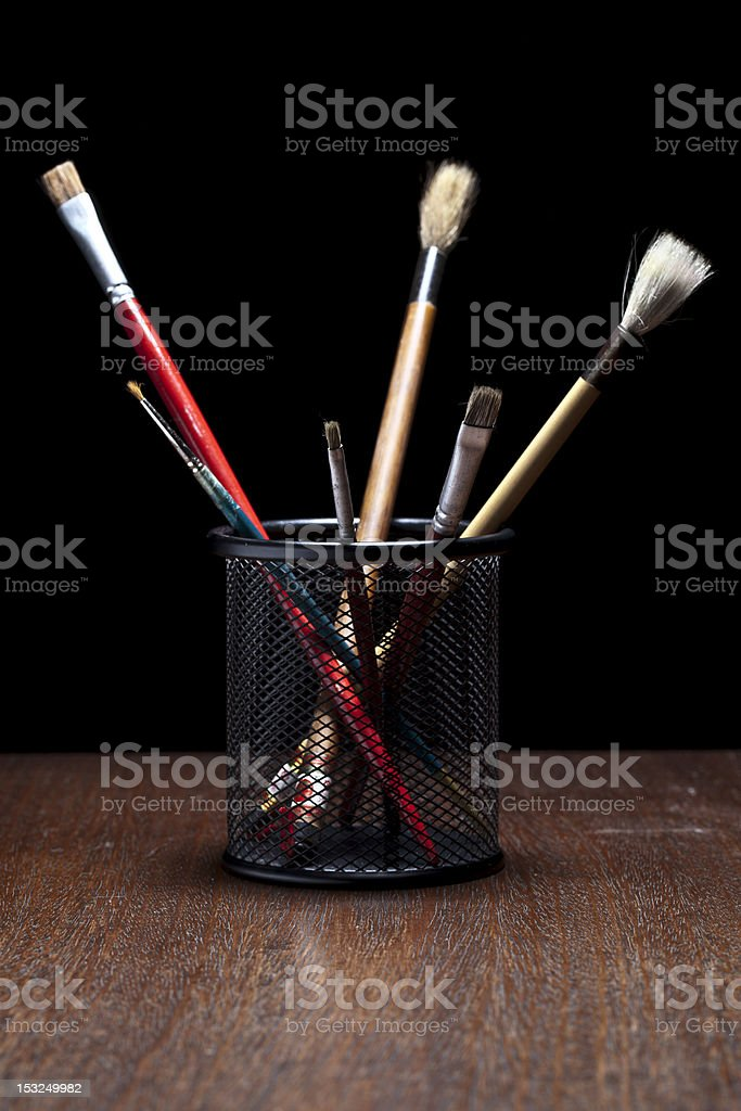 brushes in a can royalty-free stock photo