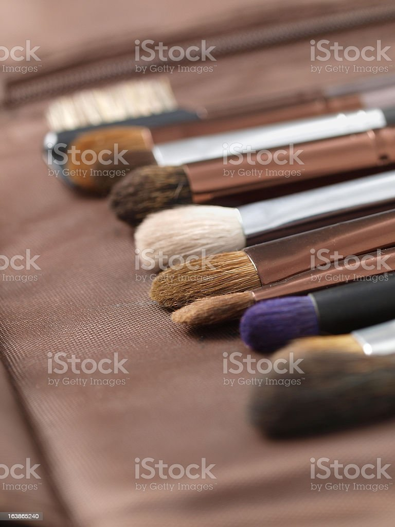 Brushes in a row royalty-free stock photo