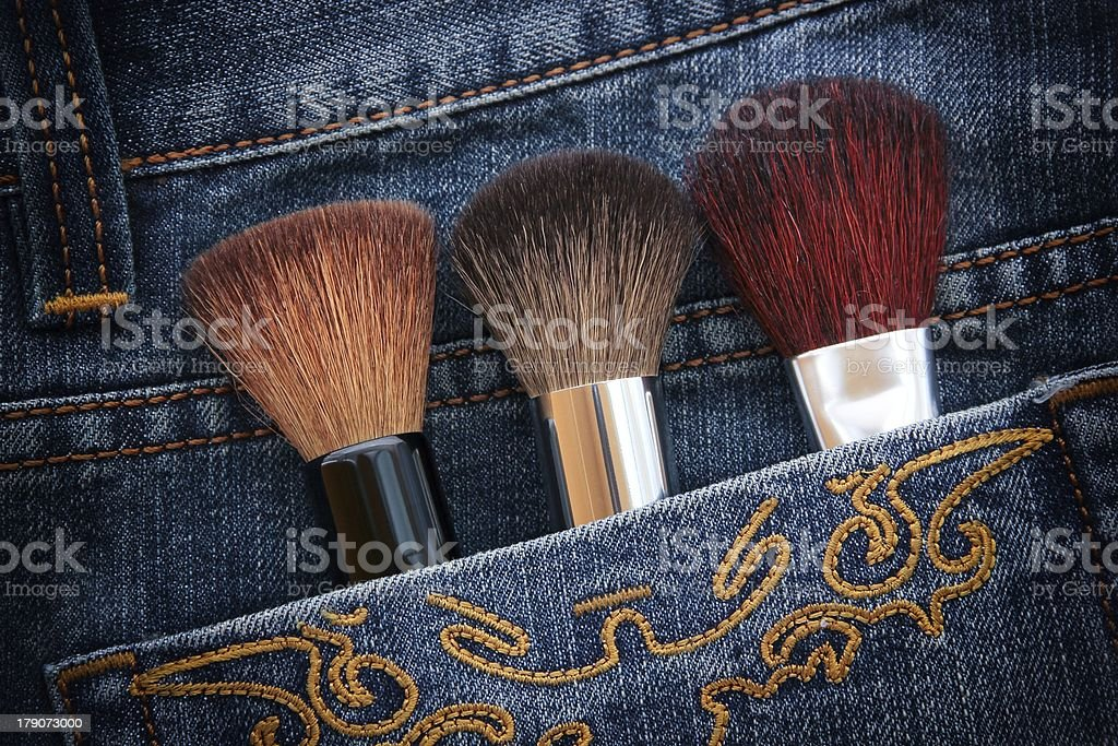 Brushes in Pocket royalty-free stock photo