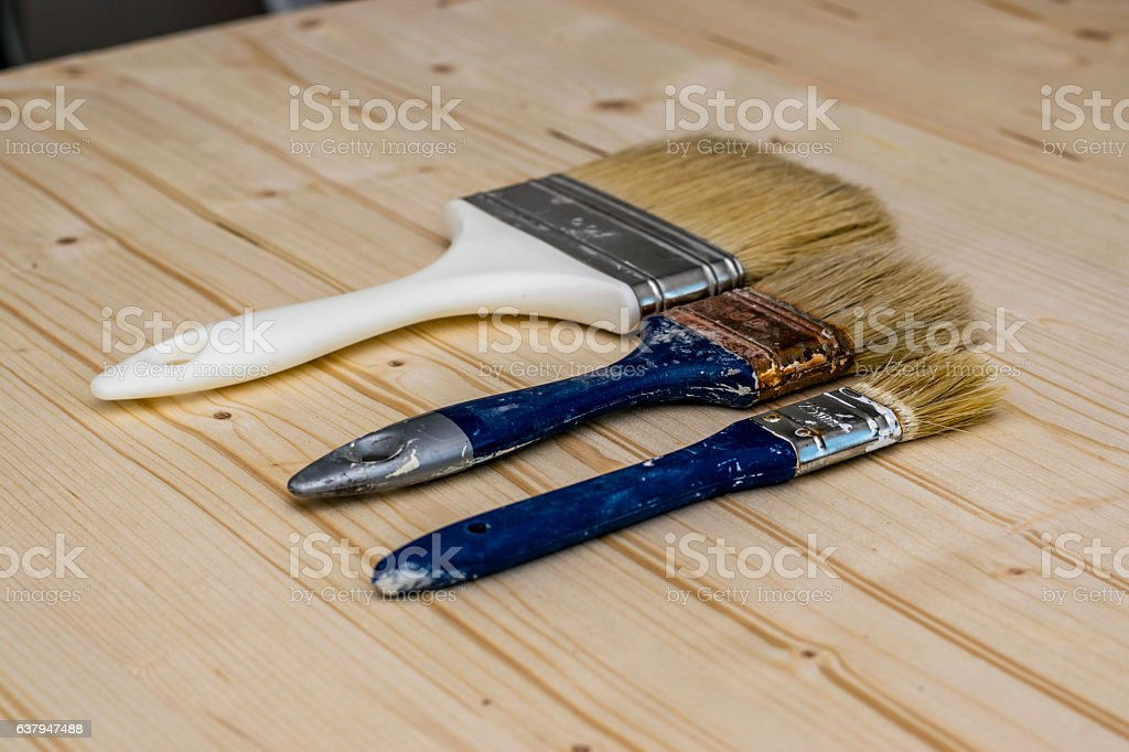 Brushes stock photo