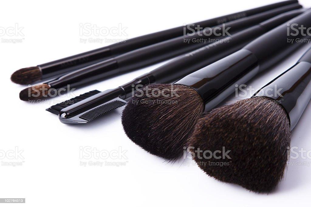 Brushes to make-up isolated on white background royalty-free stock photo