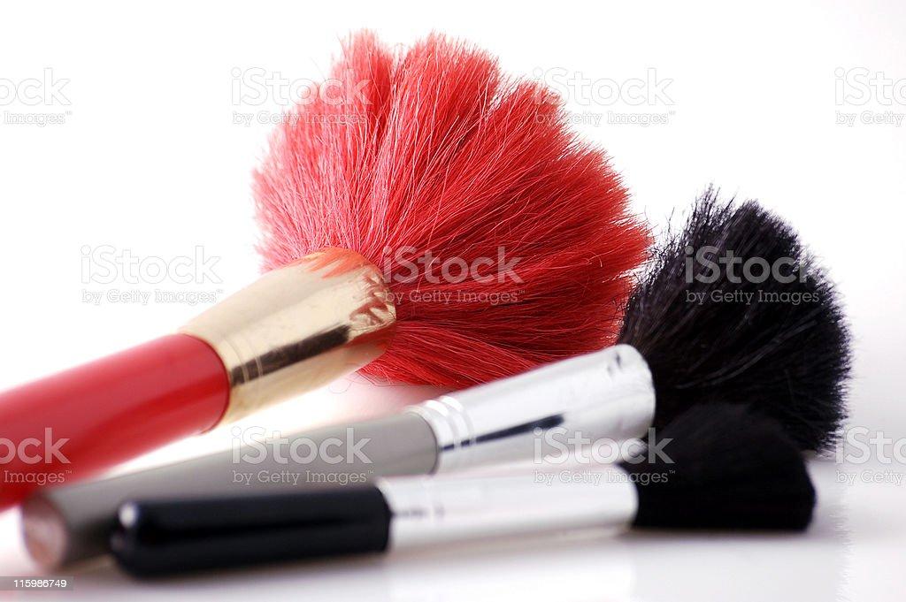 Brushes to make-up royalty-free stock photo