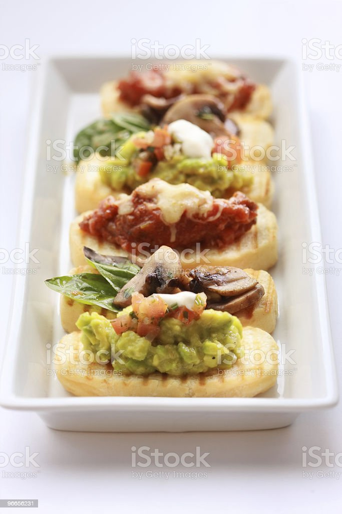 Brushetta royalty-free stock photo