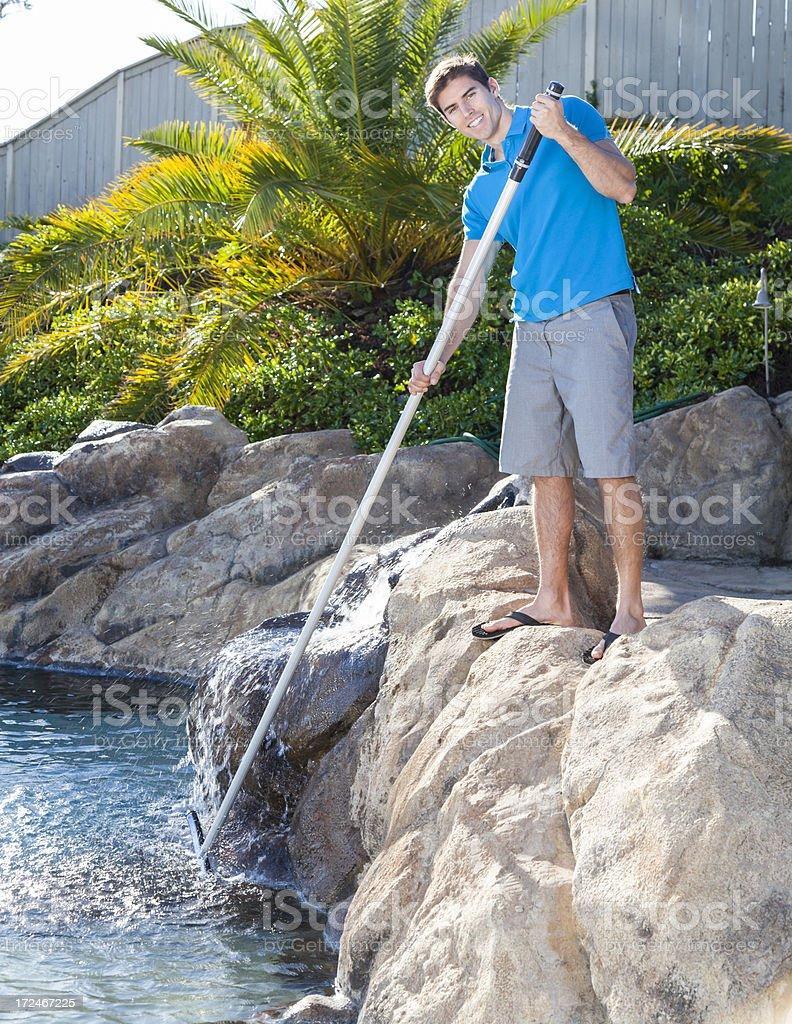 Brushing Pool royalty-free stock photo