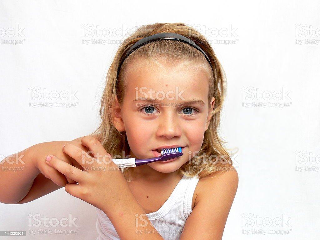 Brushing teeth royalty-free stock photo