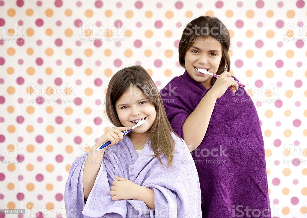 brushing teeth royalty-free stock photo