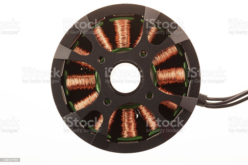Brushless Motor Isolated stock photo