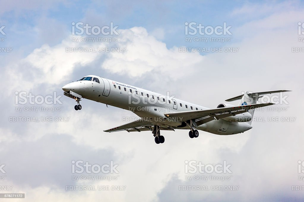 Brussels Airlines Regional Embraer stock photo