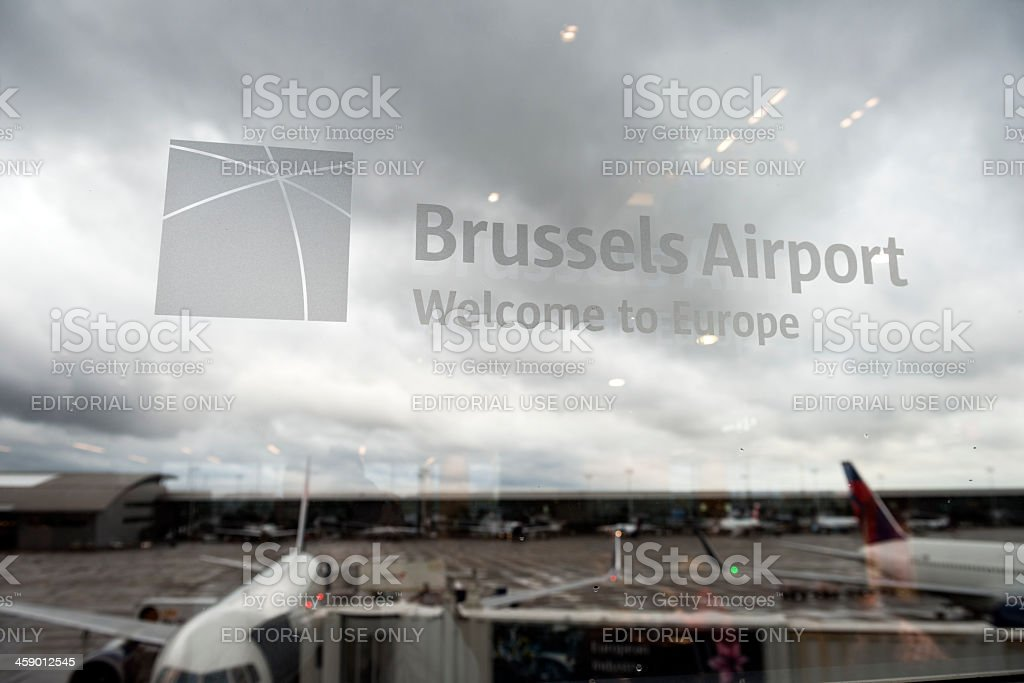 Brussels airport stock photo