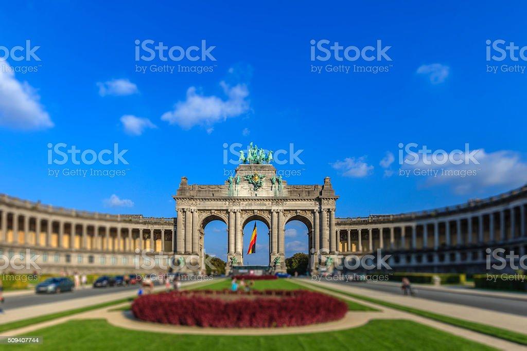 Brussels, Arc de Triomphe - Belgium stock photo