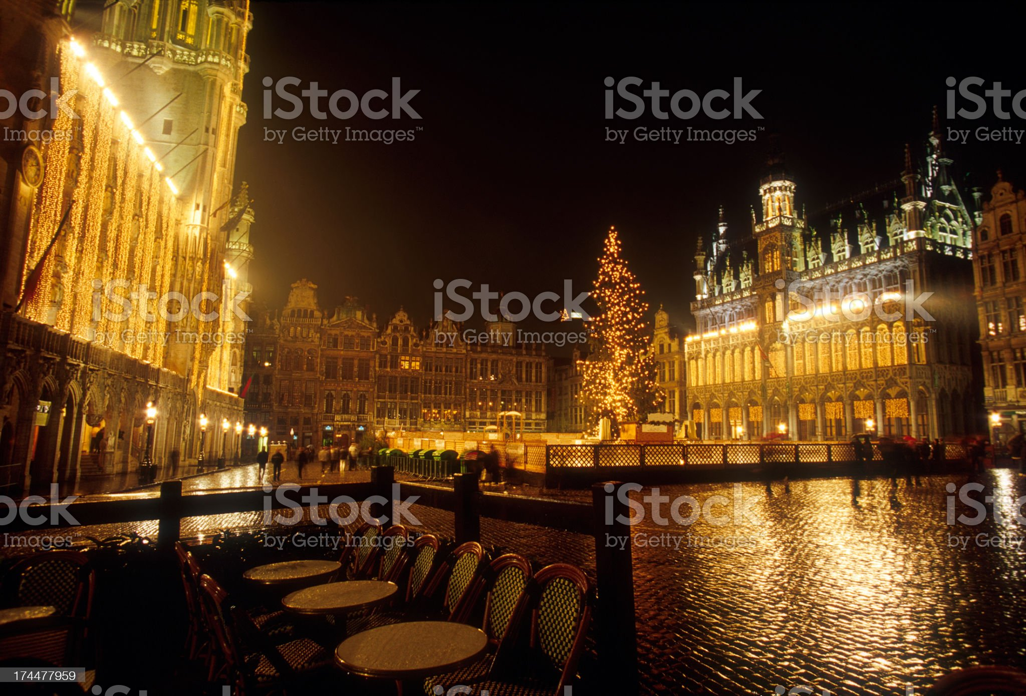 Brussels at Night royalty-free stock photo