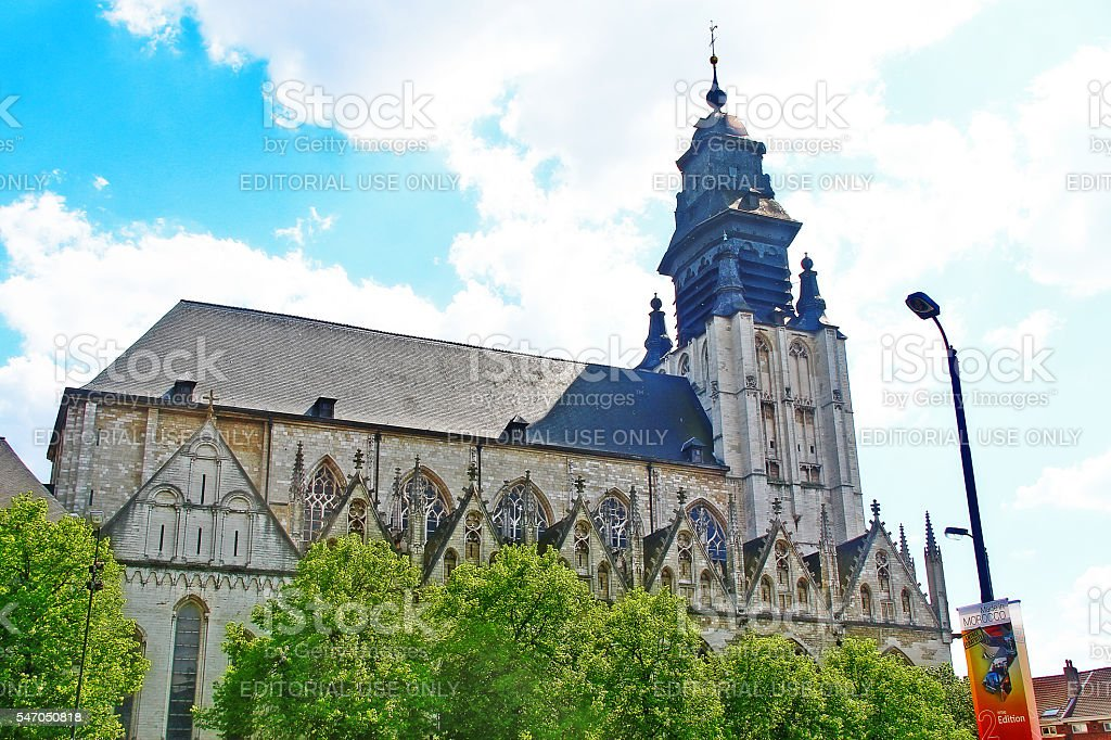 Brussels, Belgium - May 07, 2016 - Church of Our Lady stock photo
