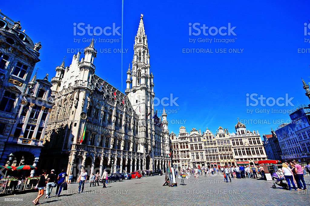 Brussels, Belgium - May 07, 2016 - Grand Place stock photo