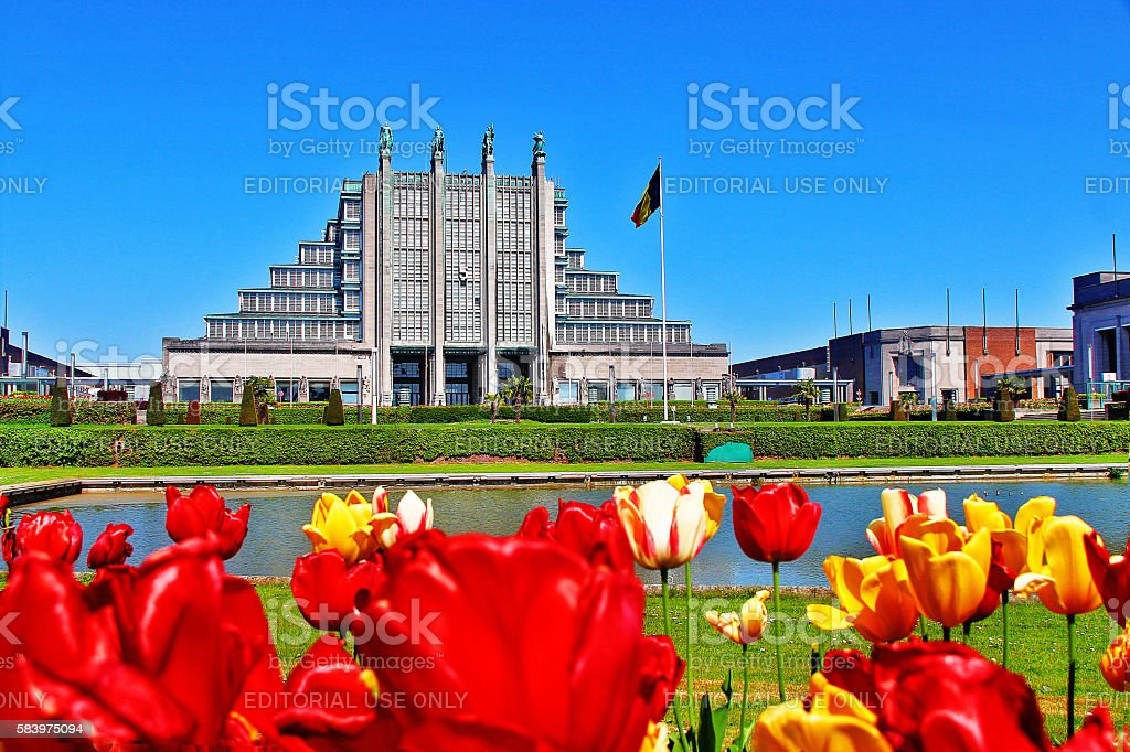Brussels (Bruxelles), Belgium - May 08, 2016 - Heysel Park stock photo