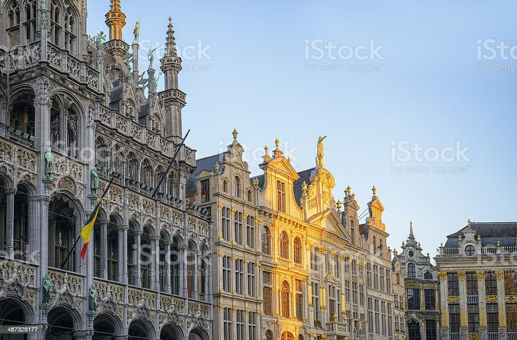 Brussels building facades stock photo