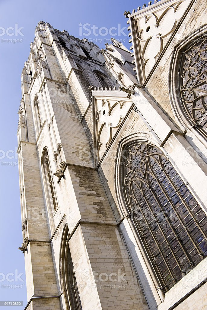 Brussels Cathedral royalty-free stock photo