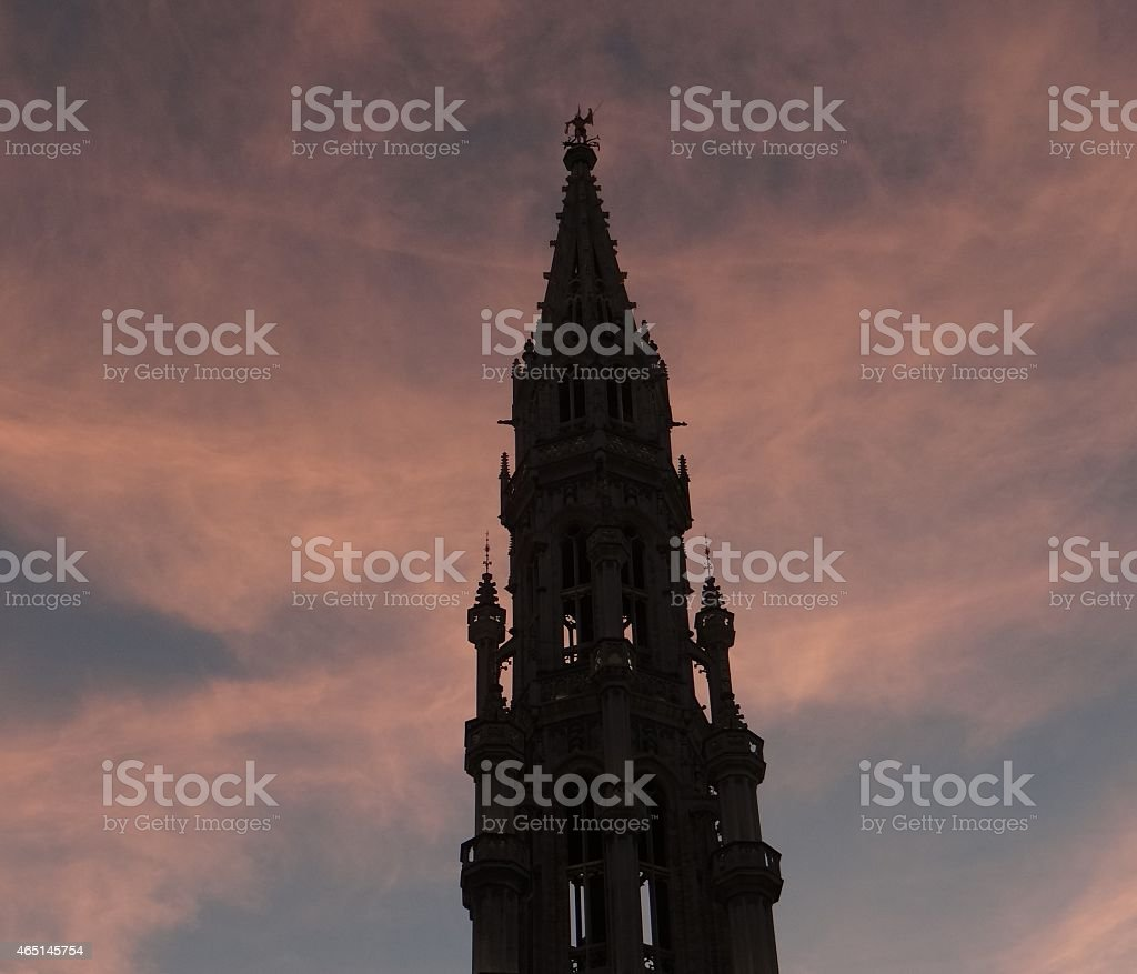 Brussels City Hall foto de stock libre de derechos