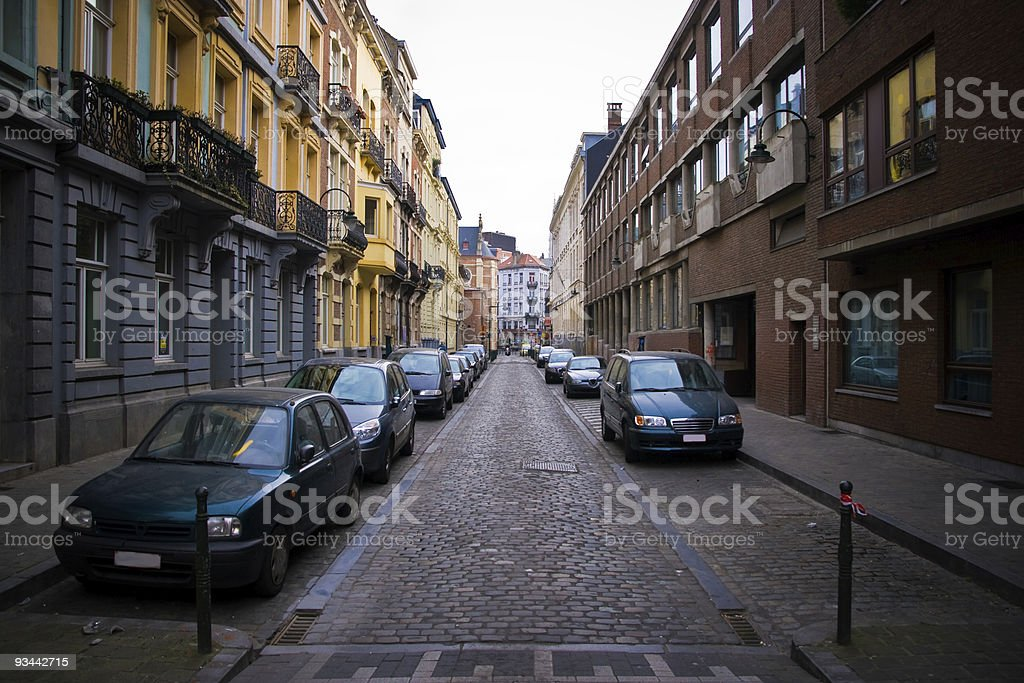 Brussels city street royalty-free stock photo