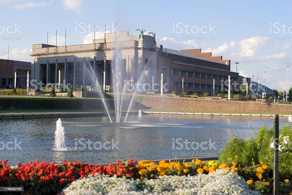 Brussels Expo building royalty-free stock photo