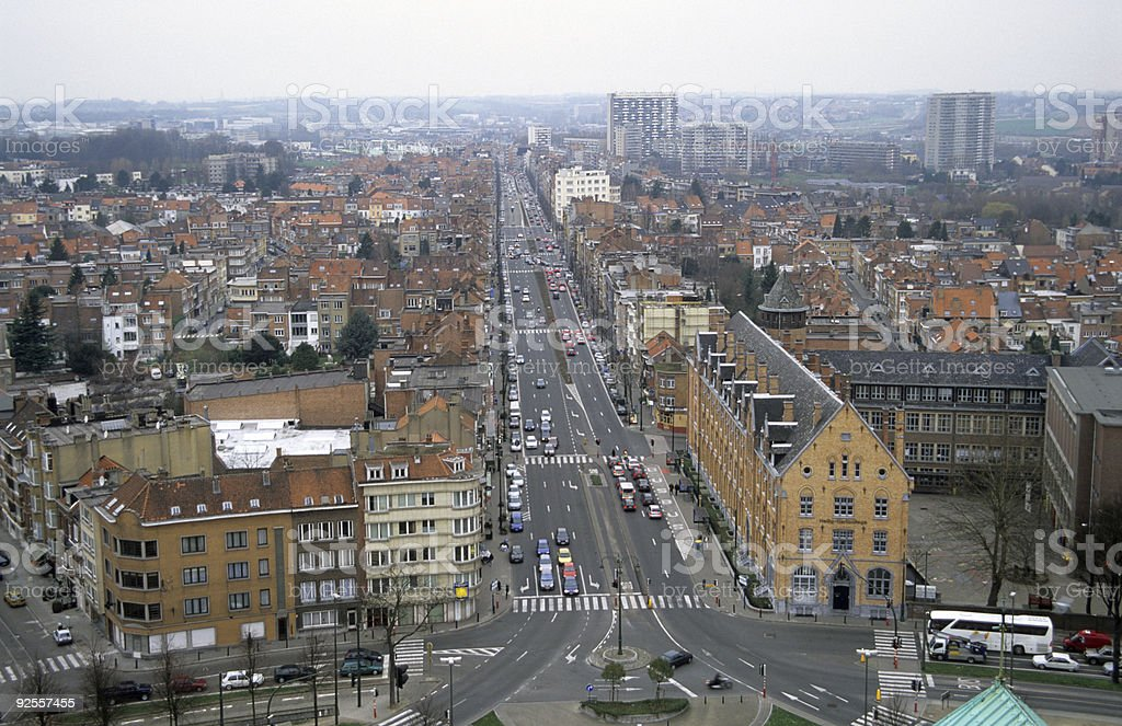 Brussels from Above royalty-free stock photo