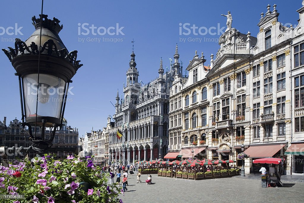 Brussels Grand Place in the summer royalty-free stock photo