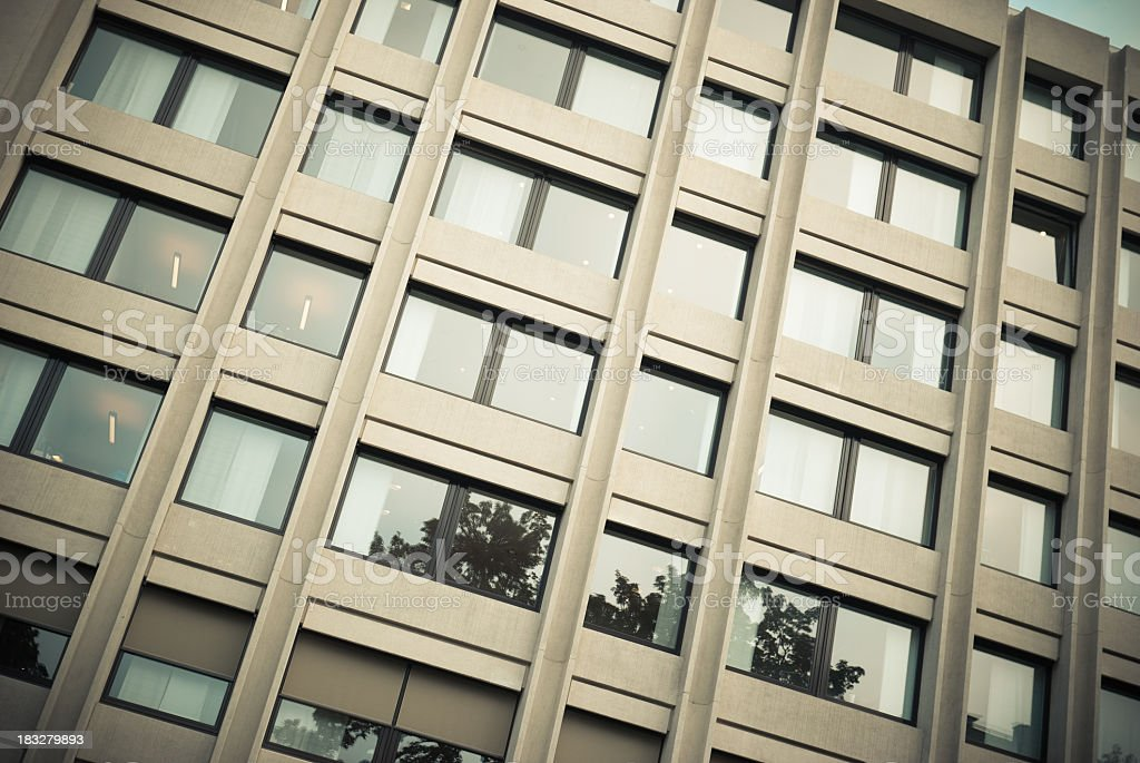 Brussels palace with office building and reflecting facade royalty-free stock photo