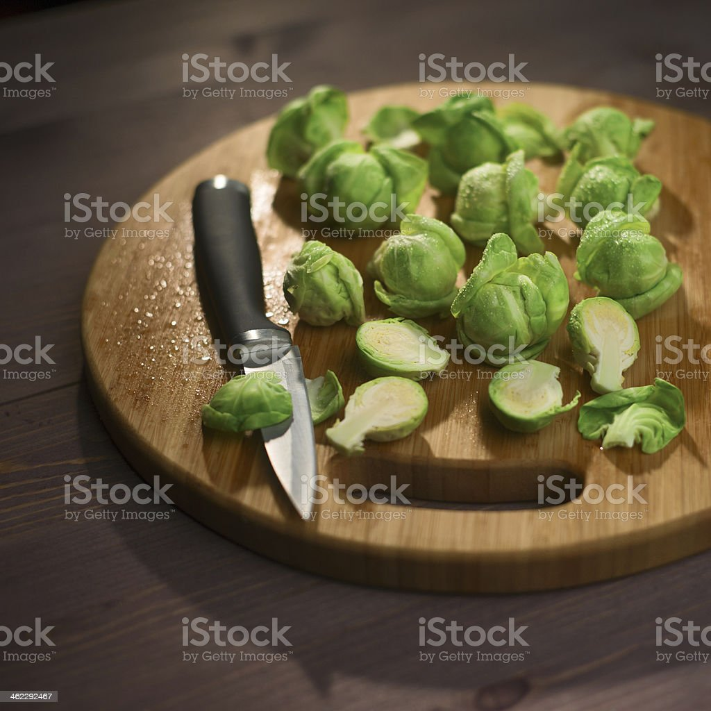Brussels Sprout composition stock photo