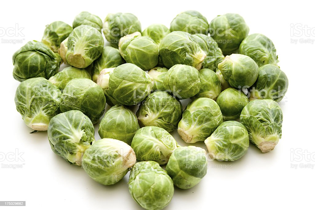 Brussels sprouts freshly in heart form royalty-free stock photo