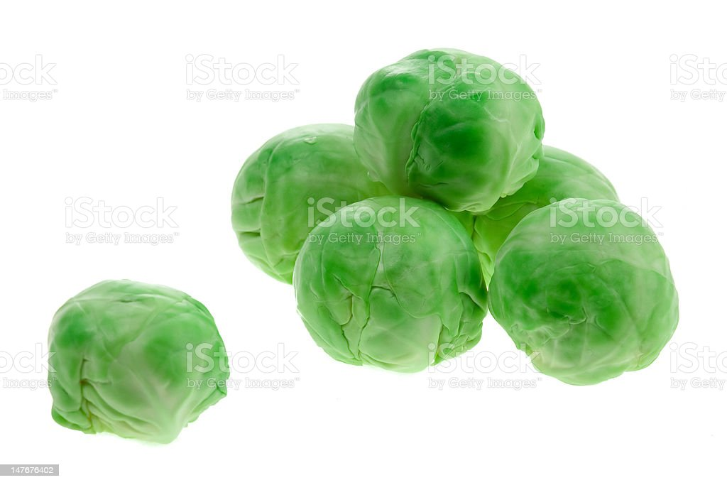Brussels Sprouts on White Background royalty-free stock photo