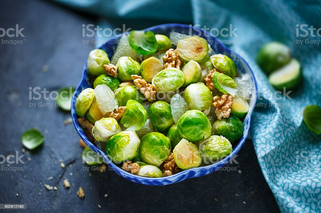 Brussels sprouts salad stock photo
