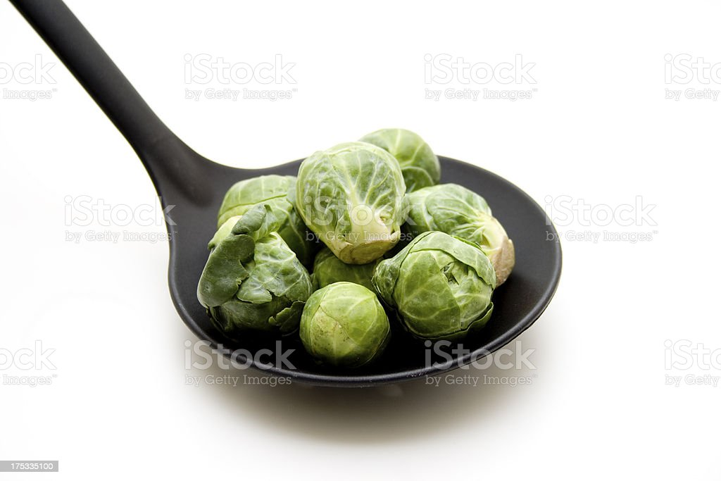 Brussels sprouts soup spoon royalty-free stock photo