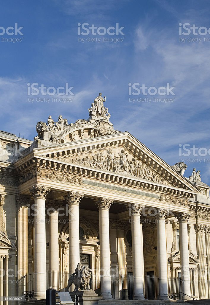 Brussels stock exchange entrance royalty-free stock photo
