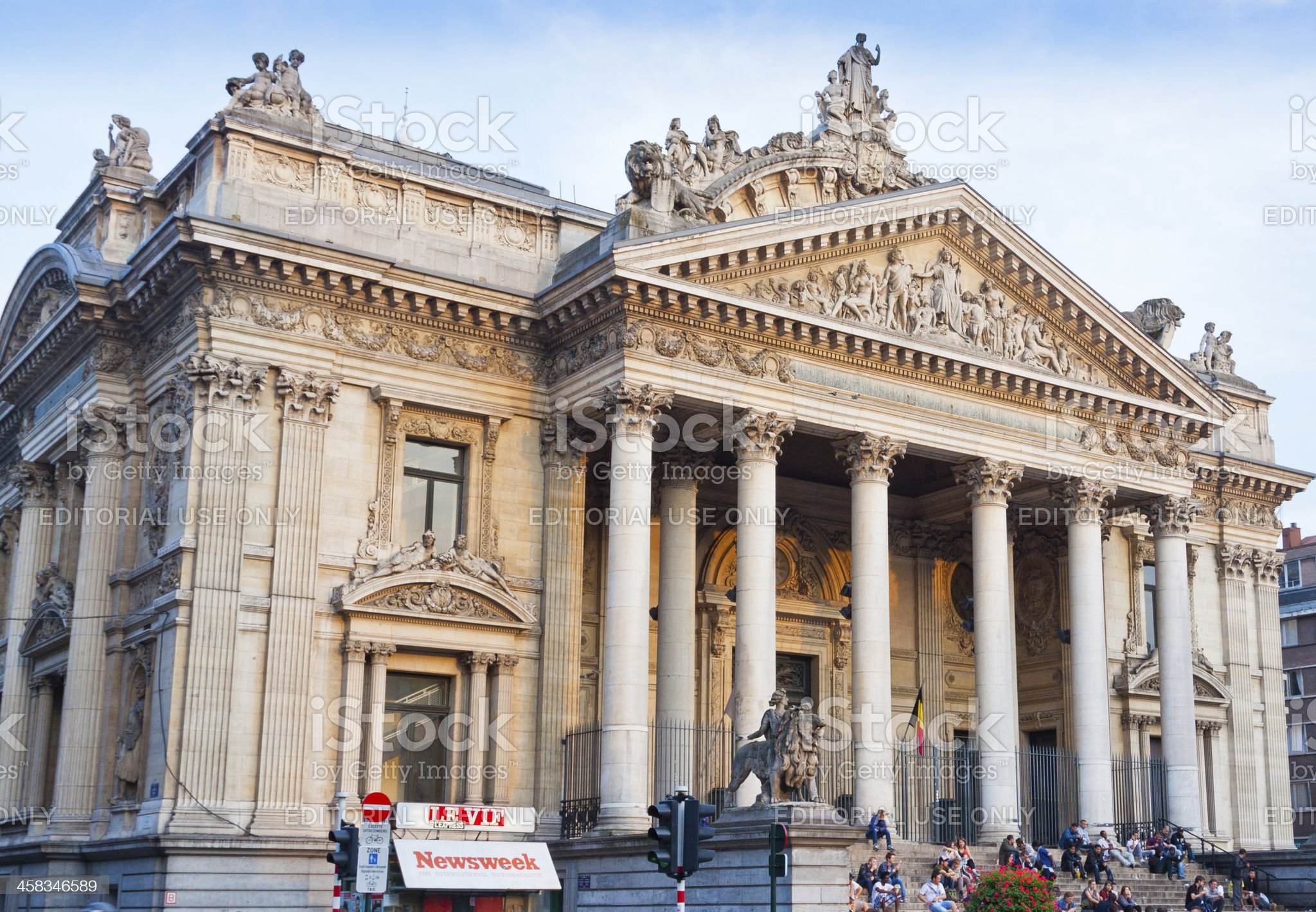 Brussels Stock Exchange. royalty-free stock photo