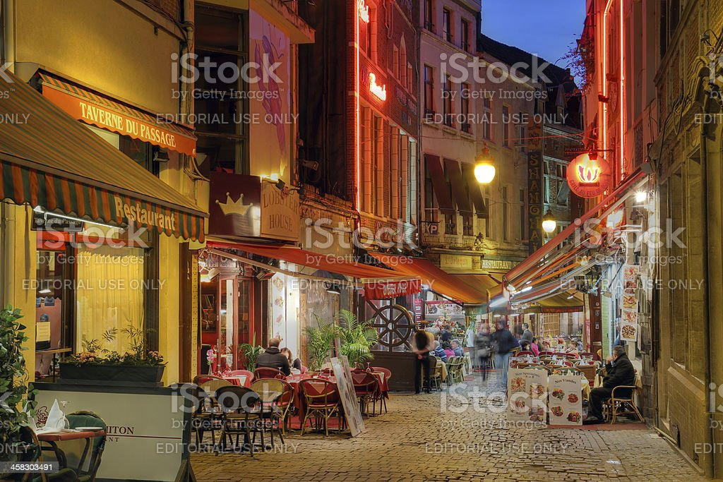 Brussels street, Belgium stock photo