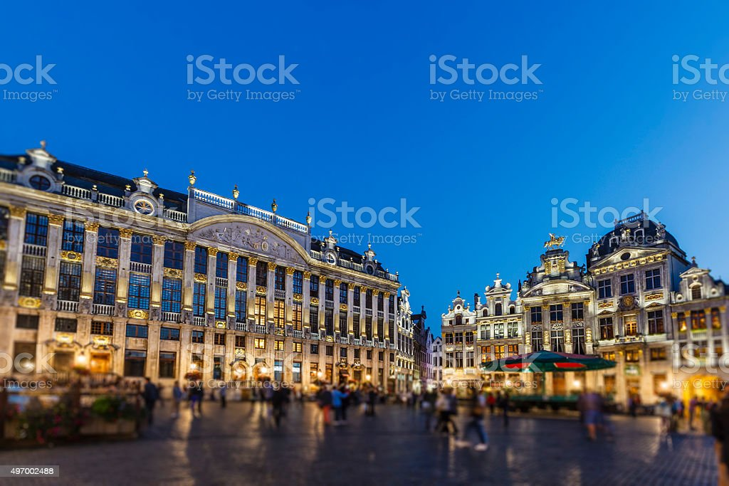 Brussels - The Grand Place, Belgium stock photo