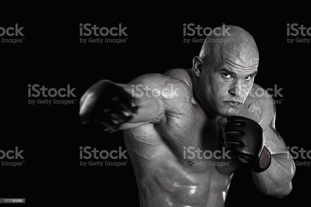 Brutal combat royalty-free stock photo