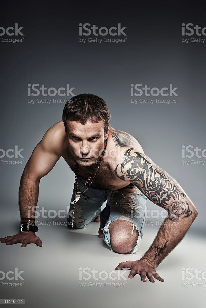 Brutal man royalty-free stock photo