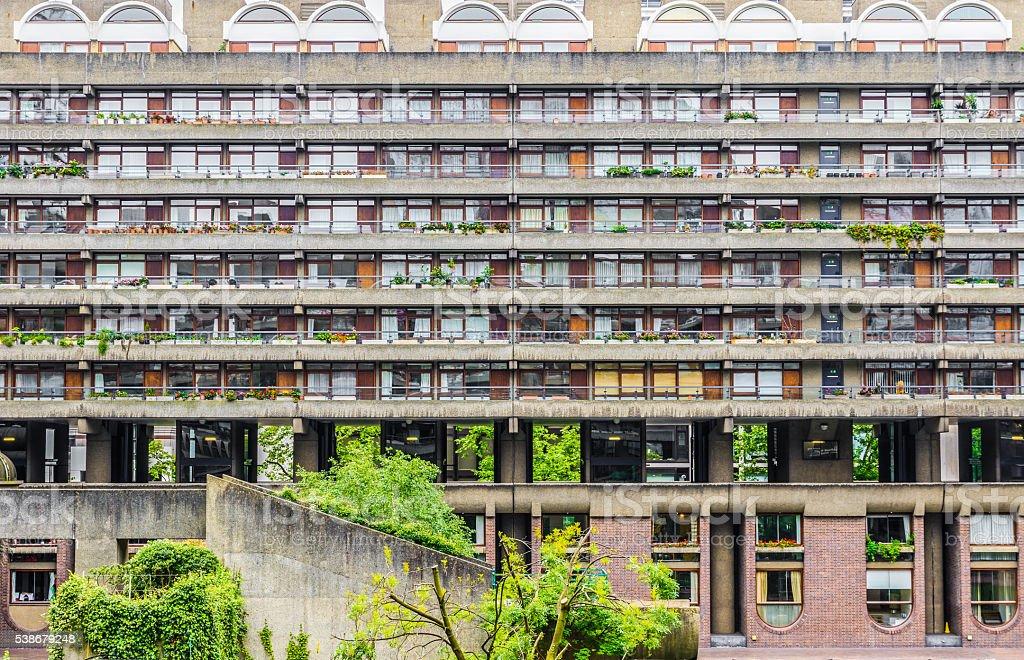 Brutalist Architecture Building in Barbican, London stock photo