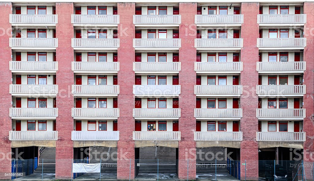 Brutalist Architecture Building in London stock photo