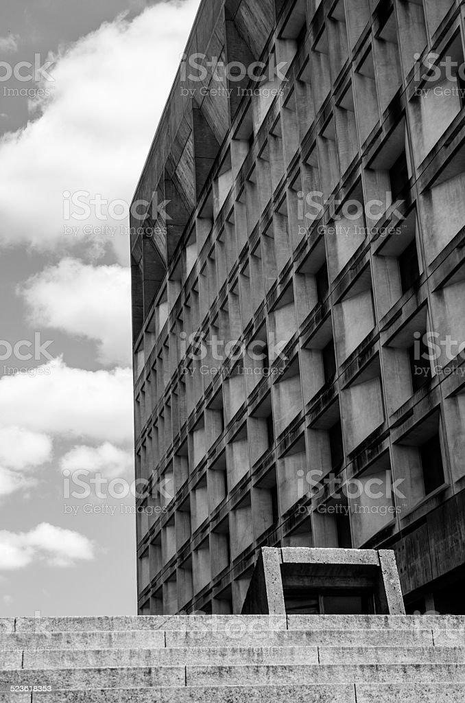 Brutalist building in Black & White stock photo