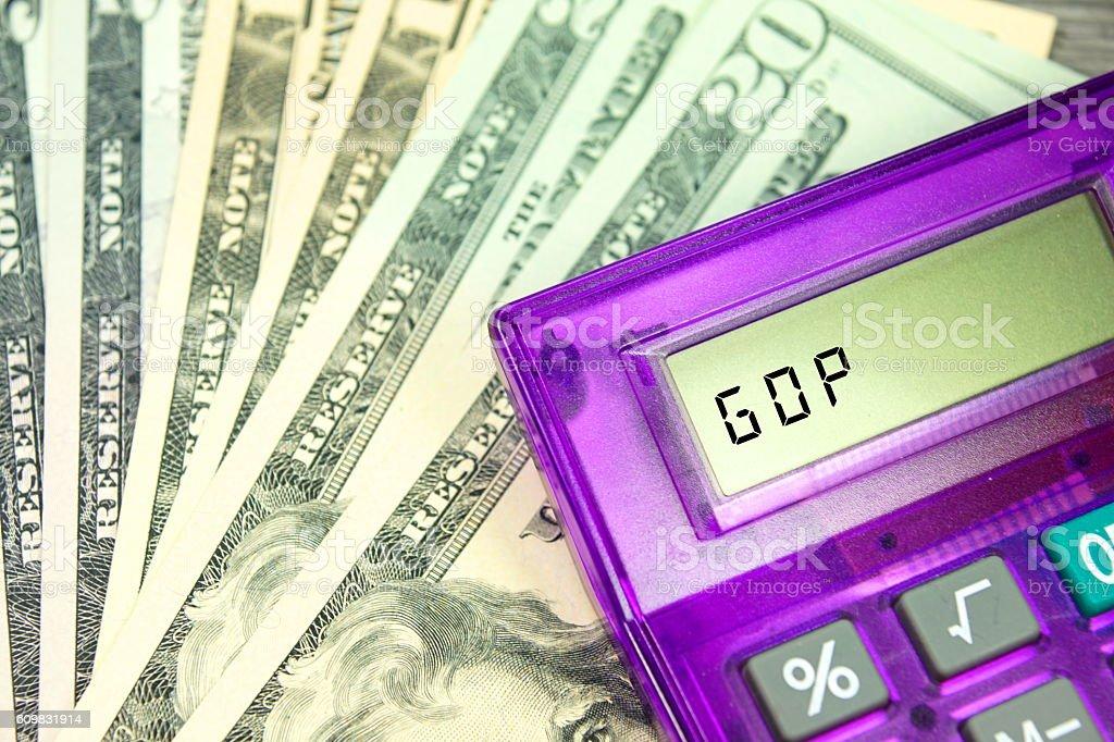 Bruttoinlandsprodukt von USA stock photo
