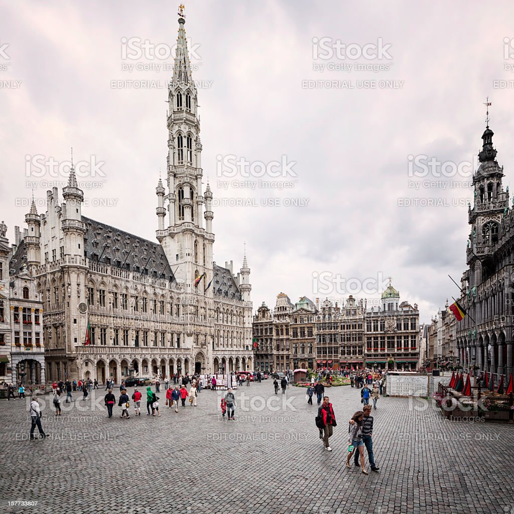 Bruxelles Grand Place Grote Markt stock photo