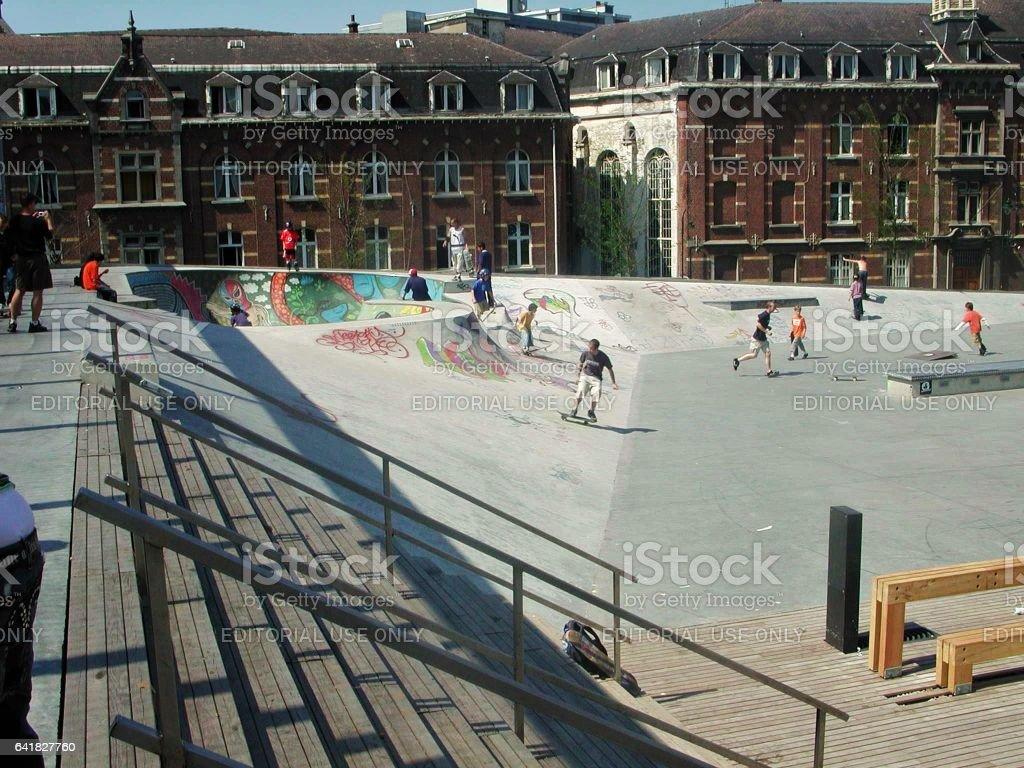 Bruxelles - Skatepark de la Chapelle stock photo