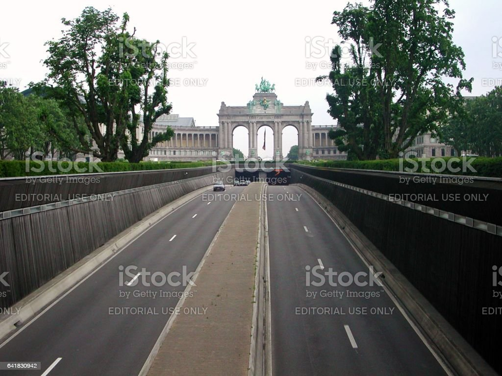 Bruxelles - Tunnel Cinquntenaire stock photo