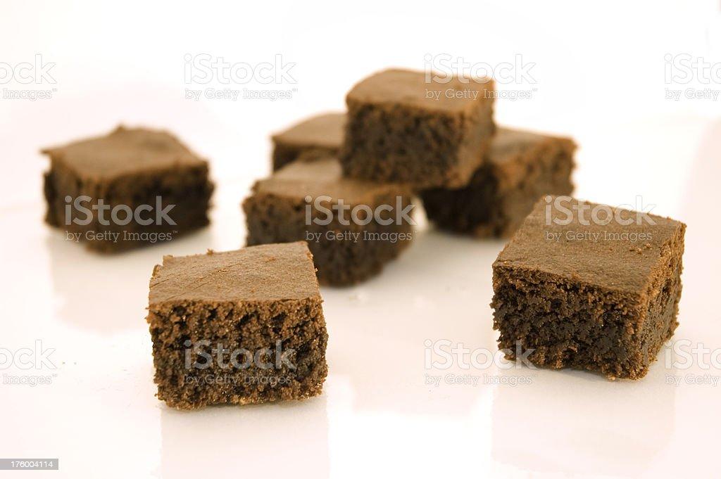 brwonie squares stock photo