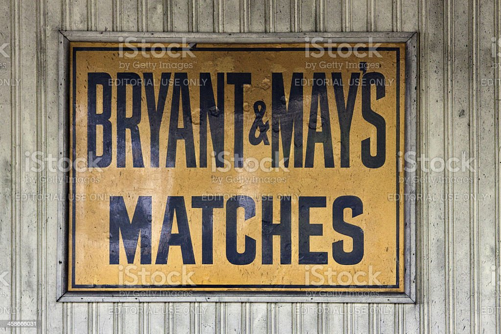 Bryant & May's Matchsticks Poster. stock photo