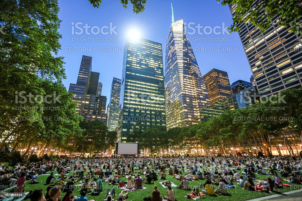 Bryant Park at New York, USA stock photo
