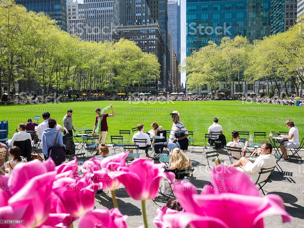Bryant Park Early Spring Manhattan stock photo