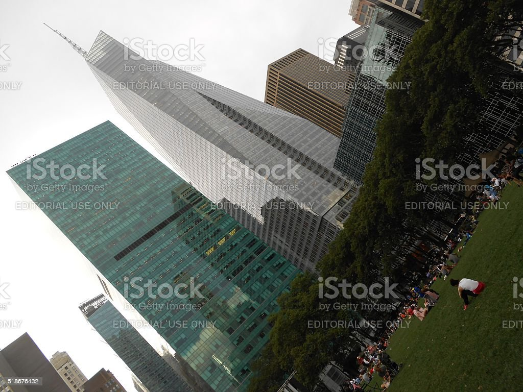 Bryant Park in Manhattan, New York, NY in Summer. stock photo